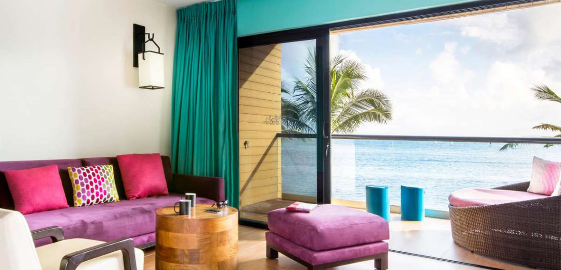 Club Med Cancun Yucatan, Mexique - Vue d'une chambre Deluxe avec balcon donnant sur la mer