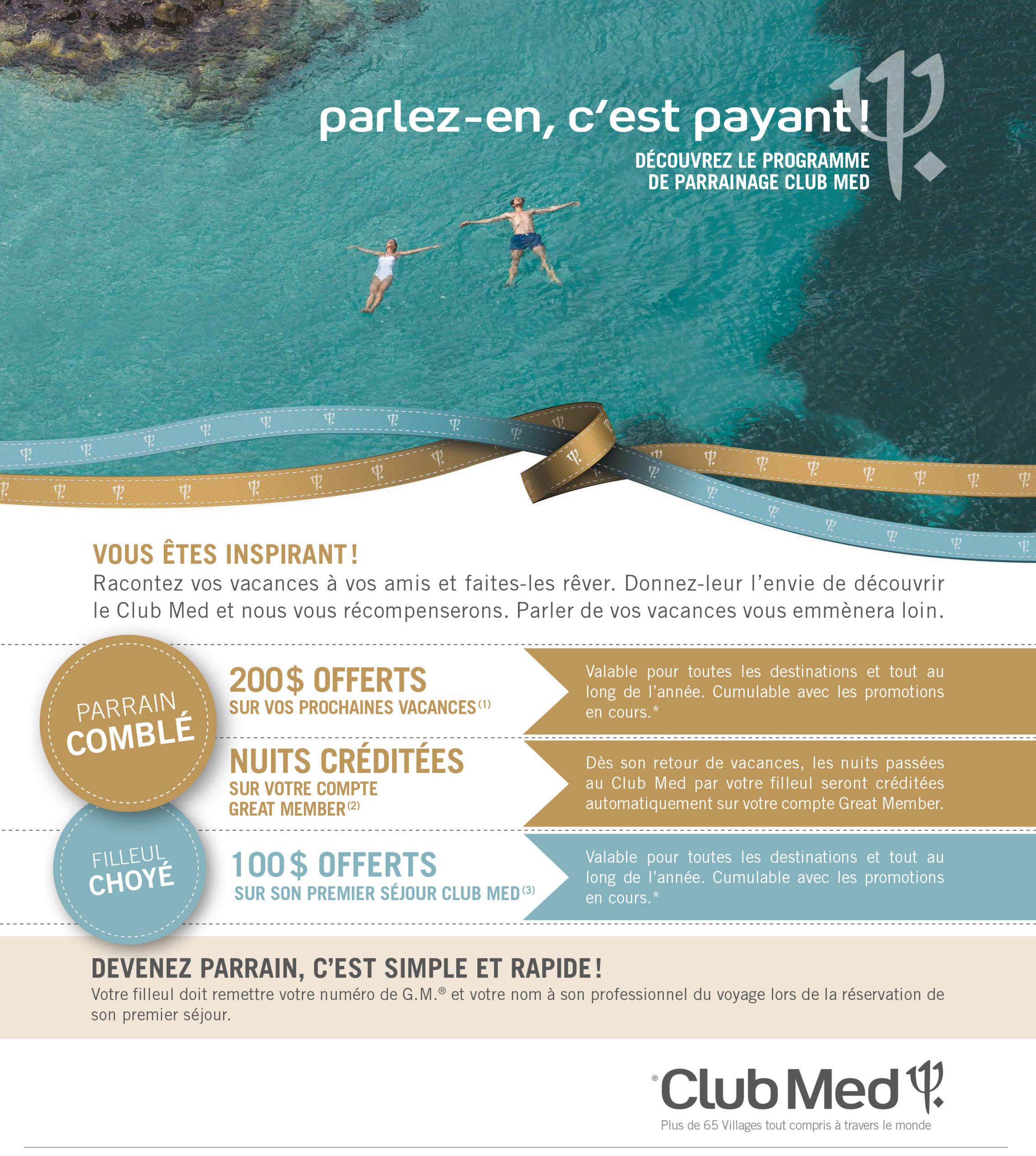 Club Med Programme de parrainage