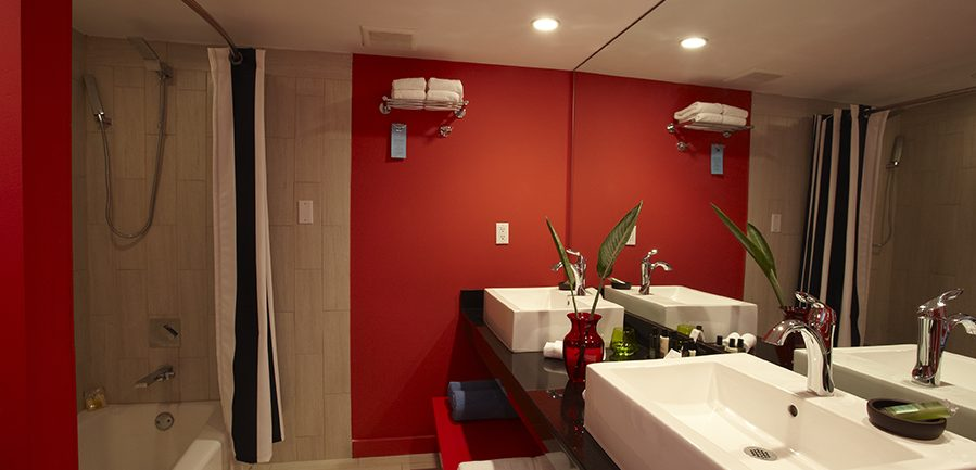 Photo intérieure d'une chambre Deluxe salle de bain