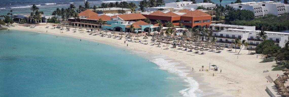 Club Med de Cacun au Yucatan - Vue aérienne de la plage