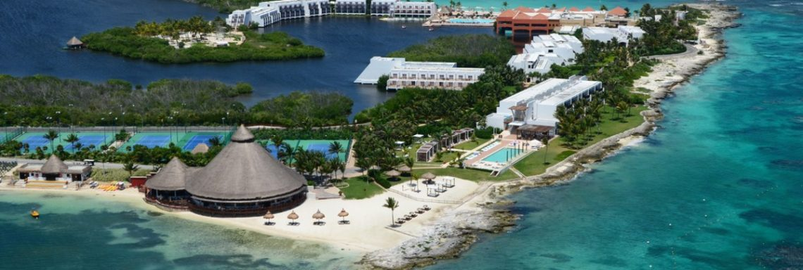 Club Med de Cacun au Yucatan - Vue aérienne espace Aguamarina