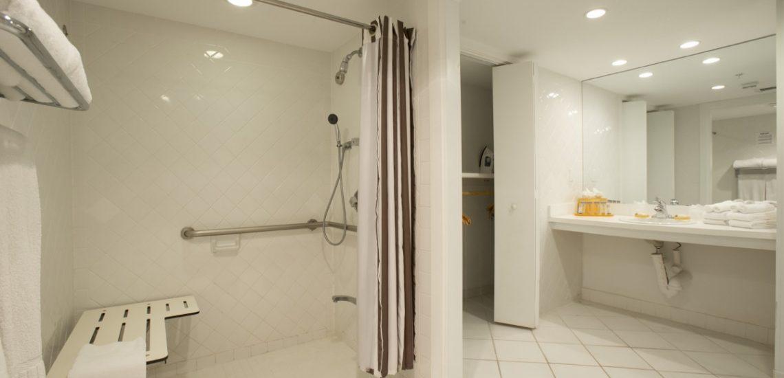 Photo intérieure d'une chambre Deluxe douche
