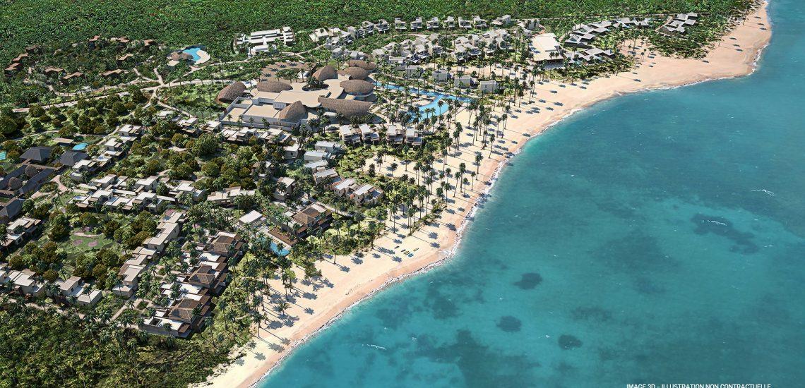 Club Med Michès Playa Esmeralda, en République Dominicaine - Vue aérienne de la plage et du Club Med Michès