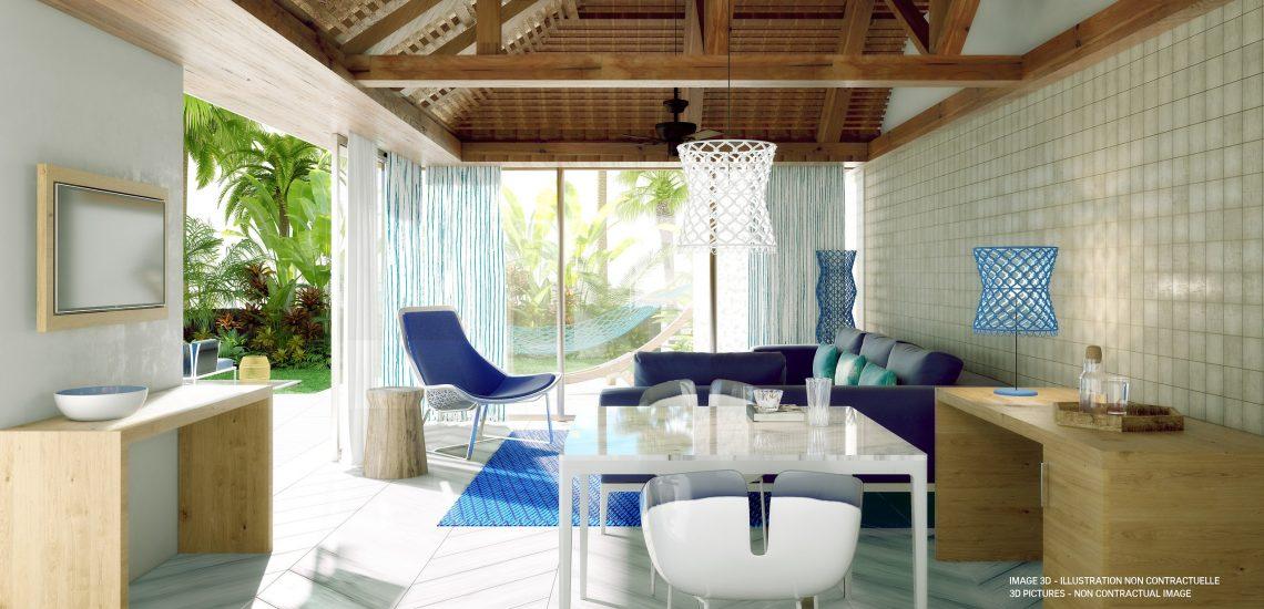 Club Med Miches Playa Esmeralda, en République Dominicaine - Image de la suite Front de mer Archipelago Piscine Privée Lit King Size