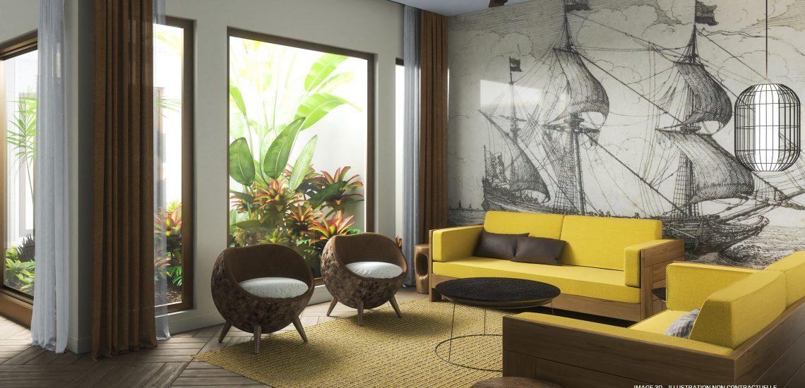 Club Med Miches Playa Esmeralda, en République Dominicaine - Salon de la chambre, Front de Mer La Perla Style Baie des Explorateurs