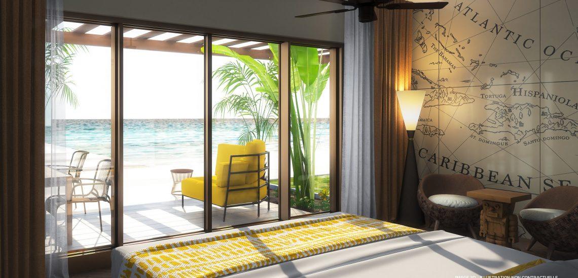Image de la chambre de la suite famille - Front de Mer La Perla Style Baie des Explorateurs