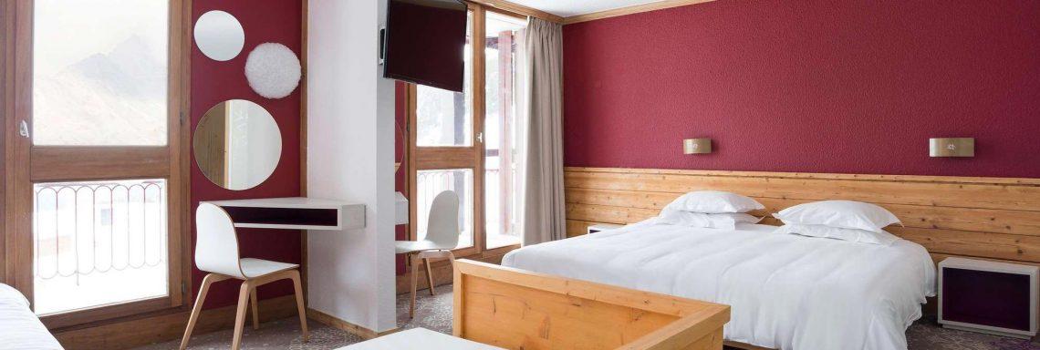 Club Med Arc Extrême - Hébergement chambre familial vue intérieur