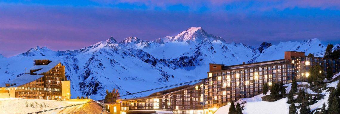 Club Med Arcs Extrême -  Vue de nuit du domaine skiable