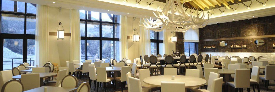 Club Med Valmorel, en France - Vue intérieure du restaurant authentique