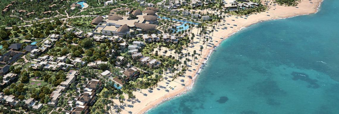 Club Med Michès Playa Esmeralda, en République Dominicaine - Vue aérienne du Club Med Michès depuis la mer