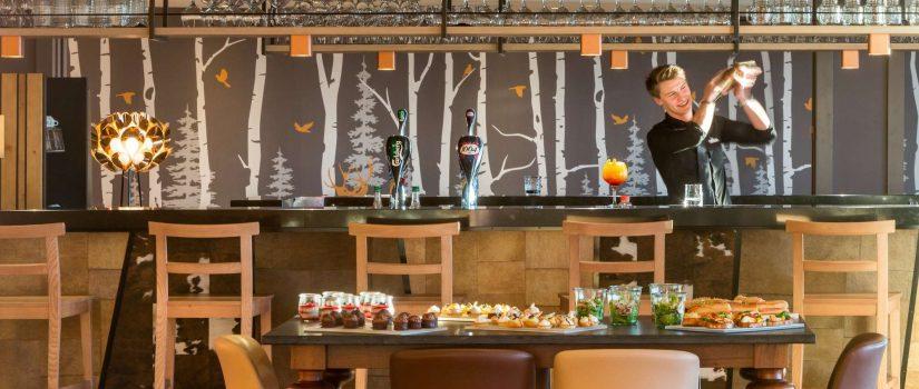 Vue intérieure du bar et restaurant