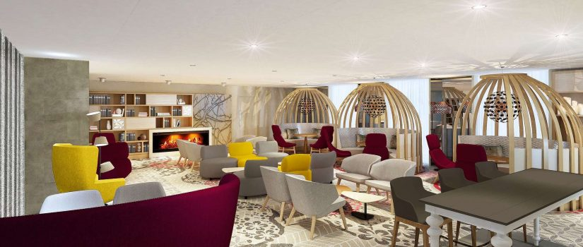 Vue intérieure du salon commun du Club Med