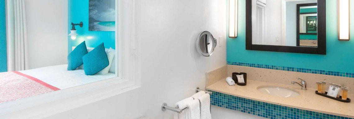 Salle de bain offerte à vous dans les chambres Deluxe