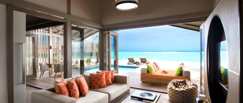 Club Med Kani, aux Maldives - Vue intérieure d'une suite sur pilotis