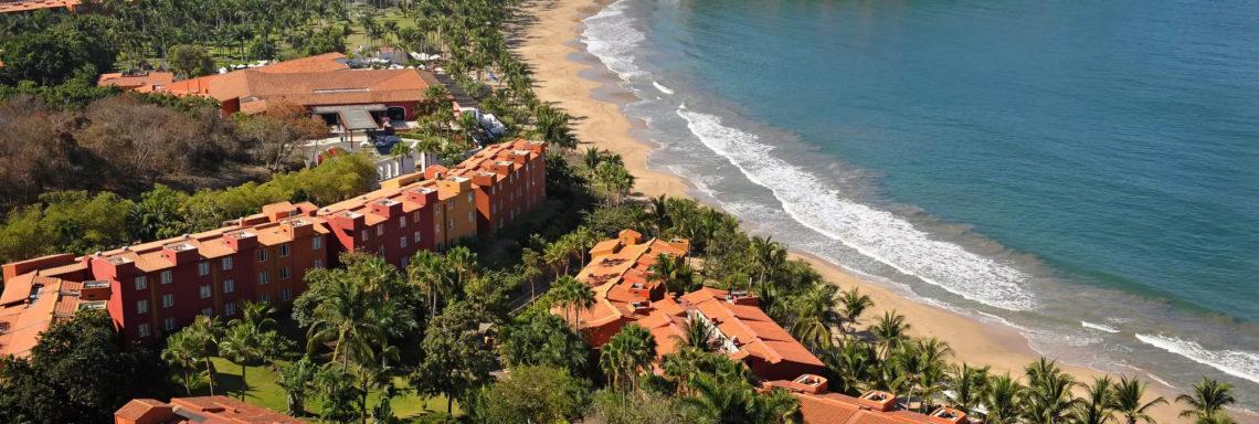 Club Med  Ixtapa Pacific, Mexique - Vue aérienne complète du complexe hôtelier