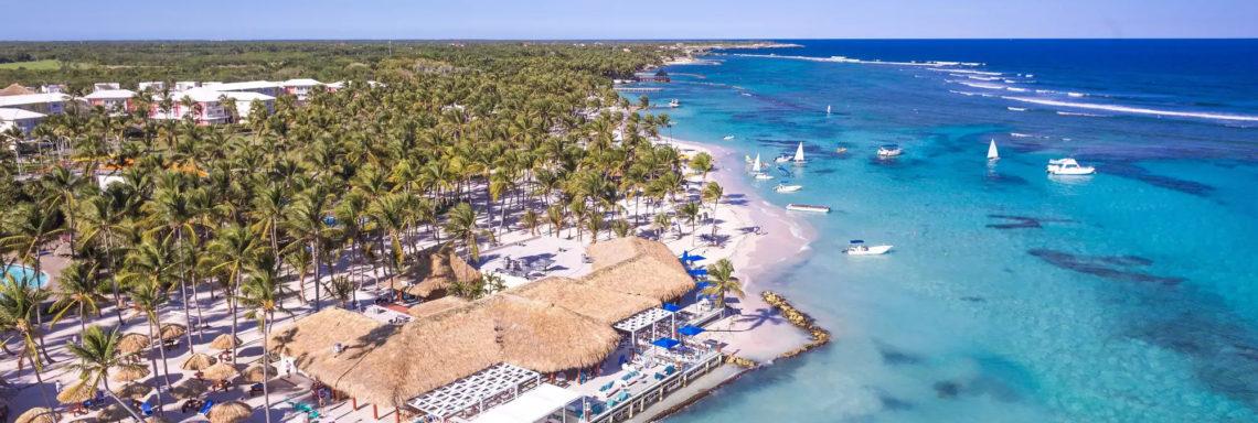 Club Med Punta Cana, en République Dominicaine -  Vue aérienne du complexe dans son entièreté