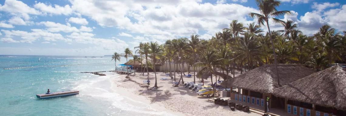 Club Med Punta Cana, en République Dominicaine - Image aérienne de la plage et du complexe