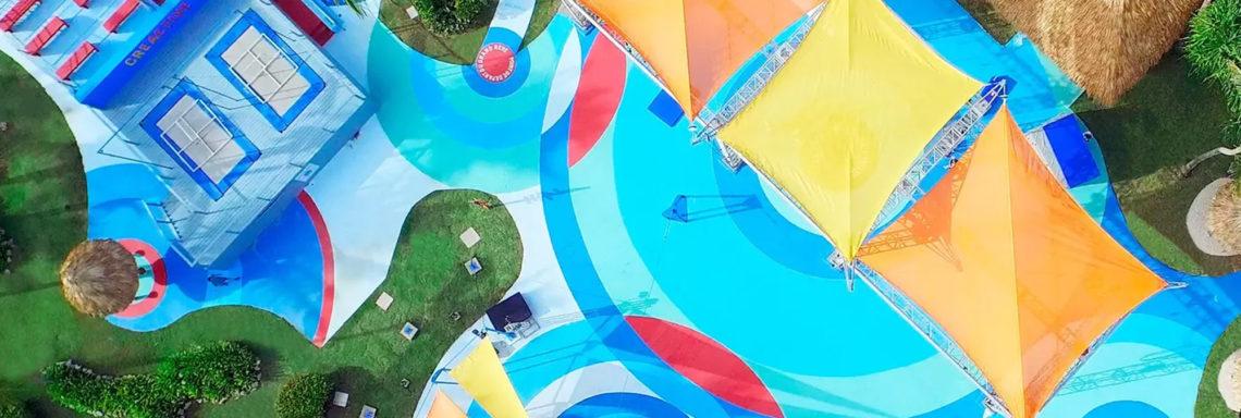 Club Med Punta Cana, en République Dominicaine - Image aérienne de l'école de cirque, offerte par le Cirque du Soleil