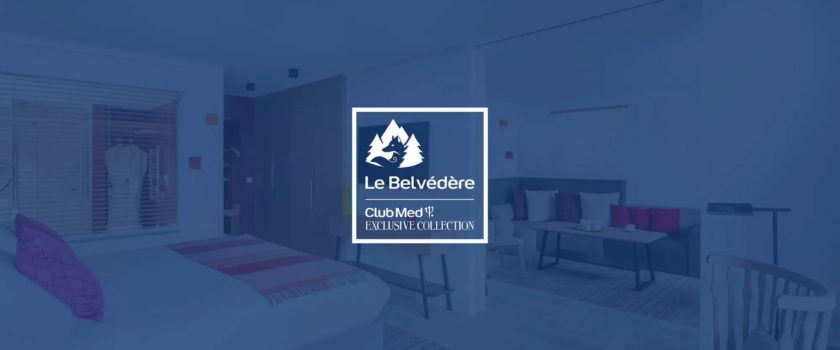 Club Med Arcs Panorama, en France - Photo du logo sur fond bleu de la Collection Exclusive Le Belvédère