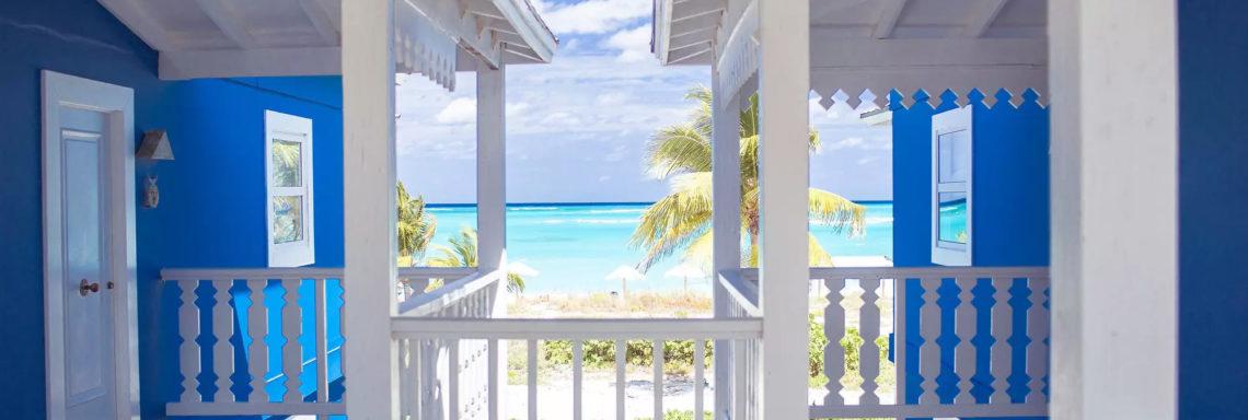 Club Med Columbus Isle, au Bahamas - Photo de la vue offerte en sortant sur le balcon d'un bungalow supérieur