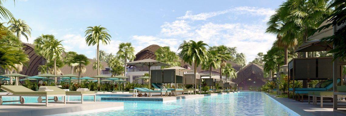 Club Med Miches Playa Esmeralda, en République Dominicaine  - Image de la piscine principale à l'avant du complexe