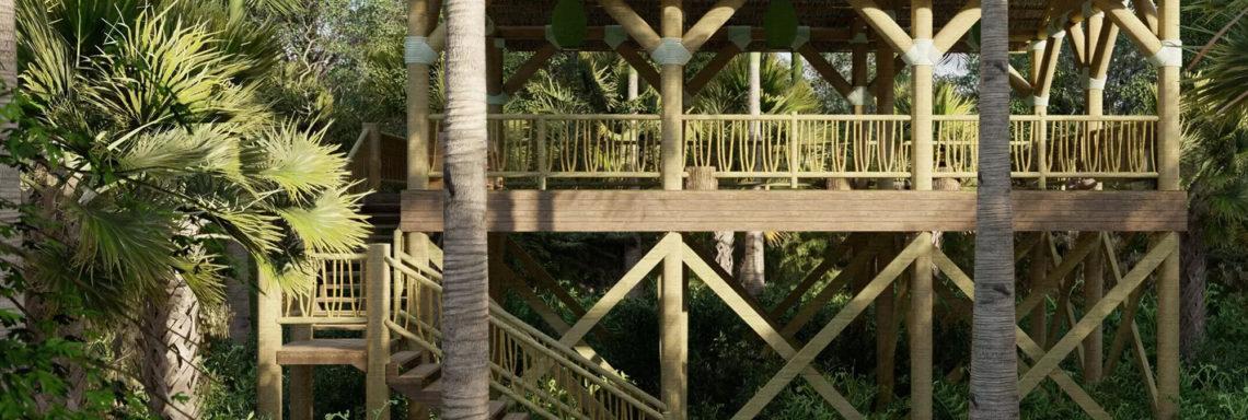 Club Med Miches Playa Esmeralda, en République Dominicaine  - Image d'une structure en plein cœur de la forêt.